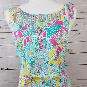 """Rare Lilly Pulitzer """"In the beginning"""" Print"""